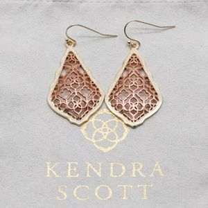 "Kendra Scott ""Addie"" Rose Gold Filigree Earrings"